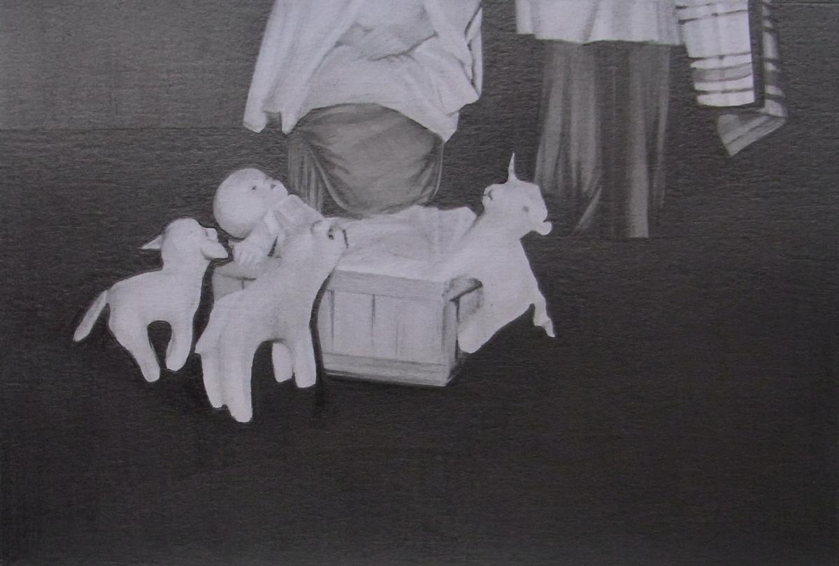susannah douglas, Group (section 4), pencil and ink on paper, 10cmx 15cm, 2014