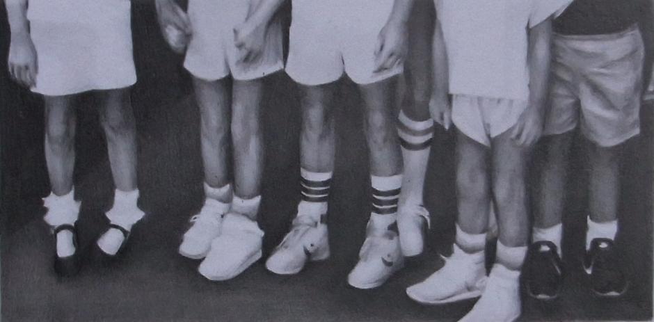 susannah douglas, Group (section 5), pencil and ink on paper, 9cm x 15cm, 2014